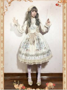 Angel's Music Chapter Series Printing Classic Lolita Sling Dress