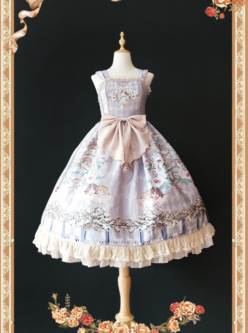 Angel's Music Chapter Series Printing Classic Lolita Sling Dress