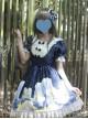 Magic Tea Party Starry Sky Series Dark Blue Sweet Lolita Short Sleeve Dress
