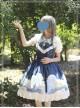 Magic Tea Party Starry Sky Series Dark Blue Sweet Lolita Sling Dress