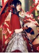 Red-crowned Crane Pattern Chinese Style Classic Lolita Half Sleeve Dress