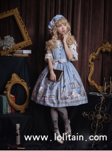 Astrologer's Mysterious Sanctum Series Classic Lolita Sleeveless Dress