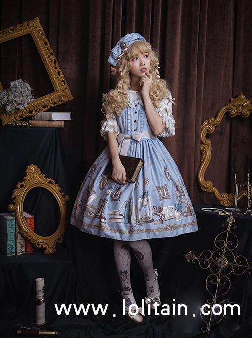 Astrologer's Mysterious Sanctum Series Classic Lolita Sleeveless Dress