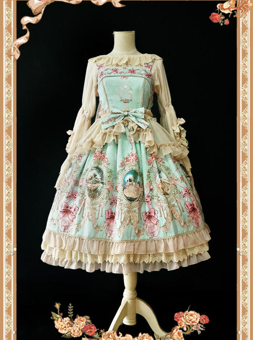 Daily Version Fairy Tale Town Series Classic Lolita Sling Dress