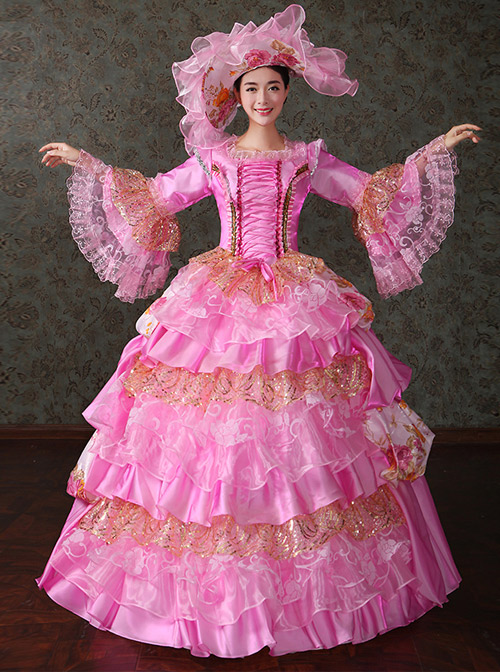 Palace Style Gorgeous Sequins Lace Lolita Prom Dress