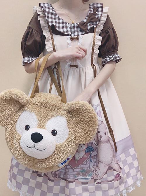Vintage Teddy Bear Sweet Lolita Sleeveless Dress