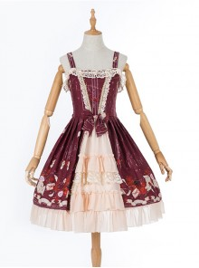 Rose Letter Paper Series Classic Lolita Sling Dress