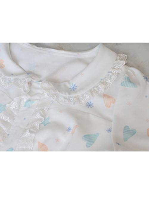 Cute Lop-eared Rabbit Printing Sweet Lolita Short Sleeve Dress