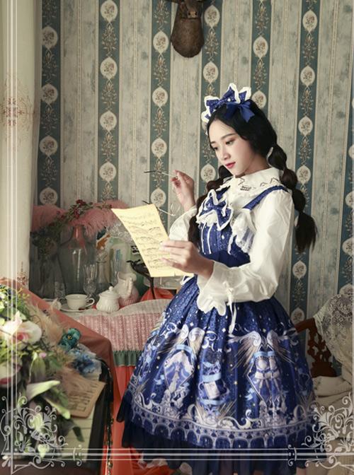 Magic Tea Party Starry Sky City Series Classic Lolita Sling Dress