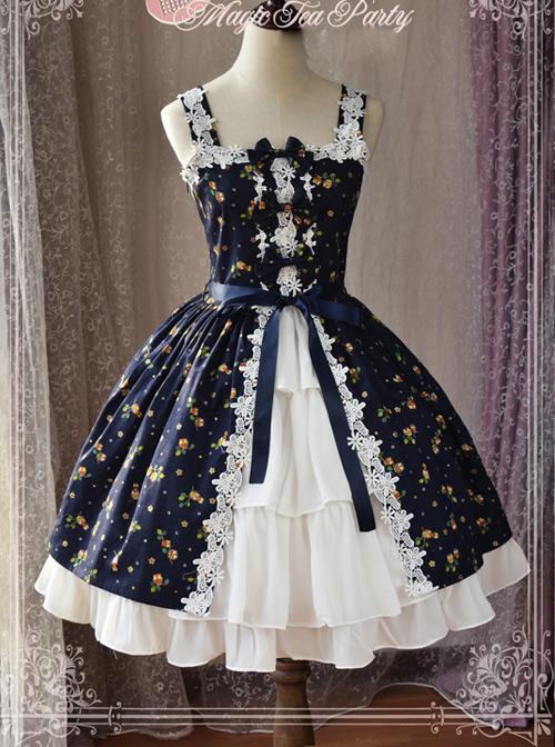 Magic Tea Party Owls And Rabbits Series Classic Lolita Sling Dress