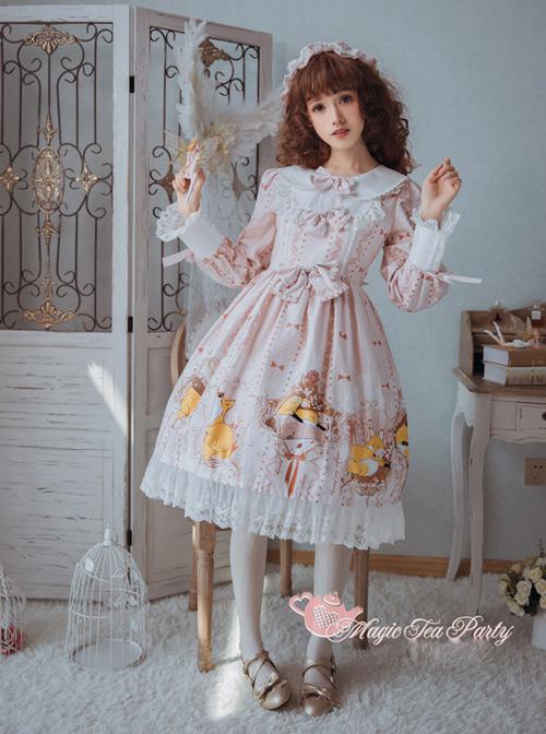Magic Tea Party Antonio's Four Seasons Series Long Sleeve Classic Lolita Dress