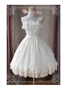 Magic Tea Party Alina Series White Lace Embroidery Classic Lolita Sling Dress