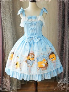 Magic Tea Party Antonio's Four Seasons Series Classic Lolita Sling Dress