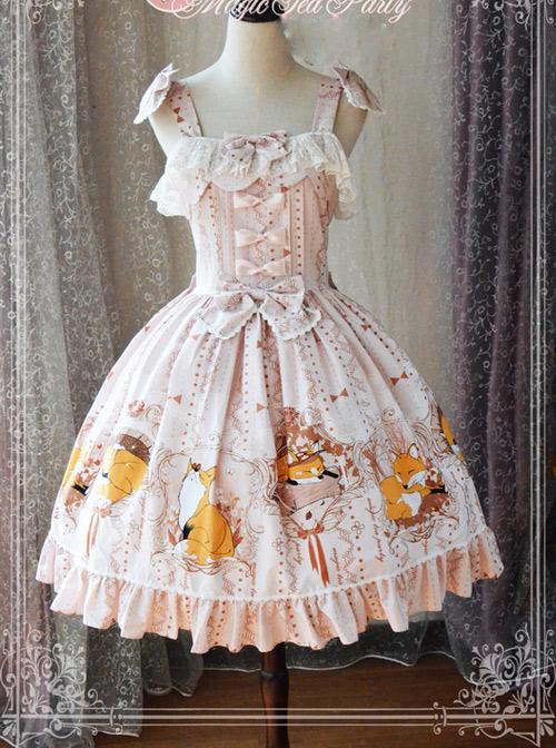 Magic Tea Party Antonio's Four Seasons Series Classic Lolita Sling Dress