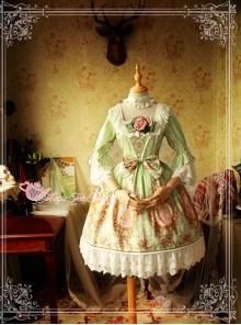 Magic Tea Party Spring of Europa Series Half Sleeve Classic Lolita Dress
