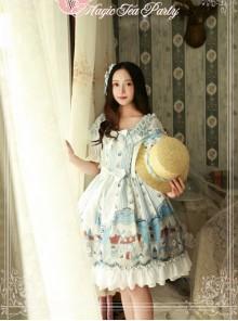 Magic Tea Party Bremen Town's Musician Series Fake Two Pieces Short Sleeve Classic Lolita Dress