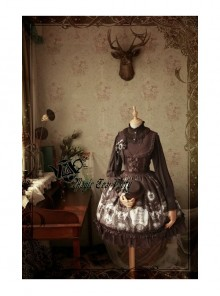 Magic Tea Party Raven And Writing-desk Series Classic Lolita JSK Sleeveless Dress