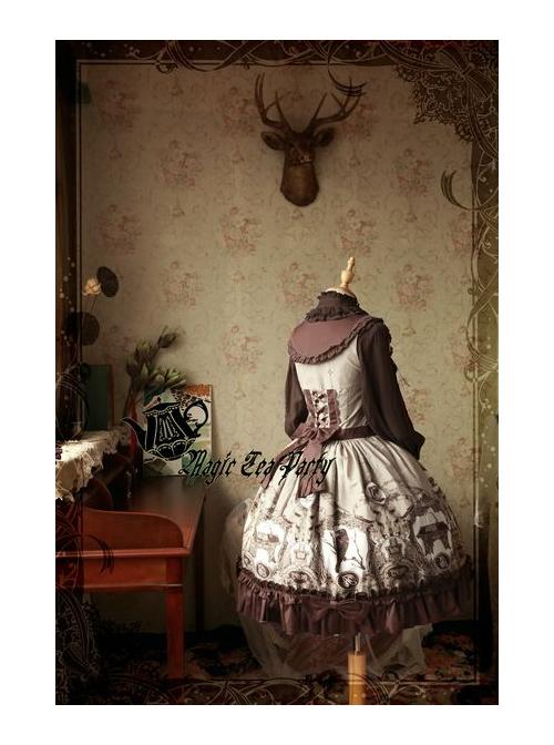 Magic Tea Party Raven And Writing-desk Series Classic Lolita JSK Sleeveless Dress