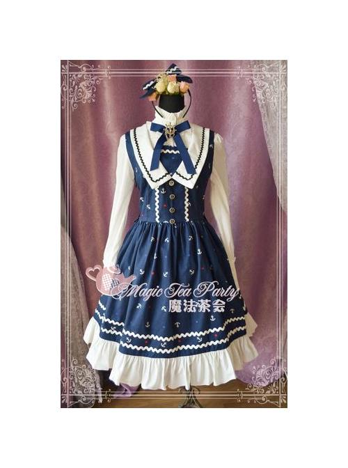 Magic Tea Party The Anchor Of The Sea Series School Lolita Sleeveless Dress