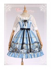 Magic Tea Party Angel Fish Series Classic Lolita Sling Dress