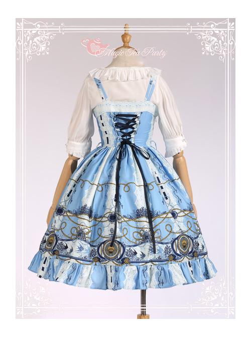 Magic Tea Party Angel Fish Series Classic Lolita Sling Dress