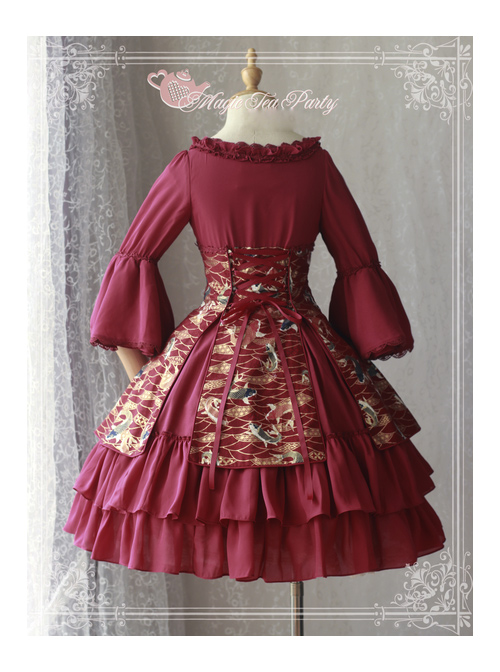 Magic Tea Party Koi Carp Series Qi Lolita Trumpet Sleeve Dress