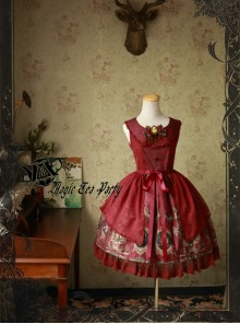 Magic Tea Party Siren's Song Series Printing Classic Lolita Sleeveless Dress