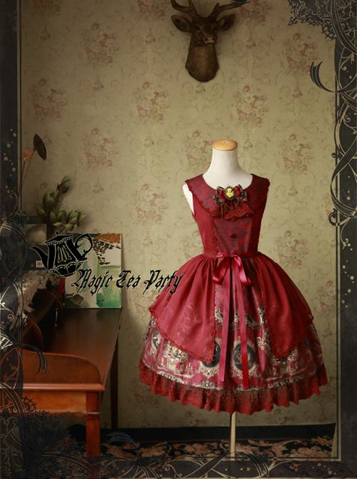 Magic Tea Party Siren's Song Series Printing Classic Lolita Sleeveless Dress