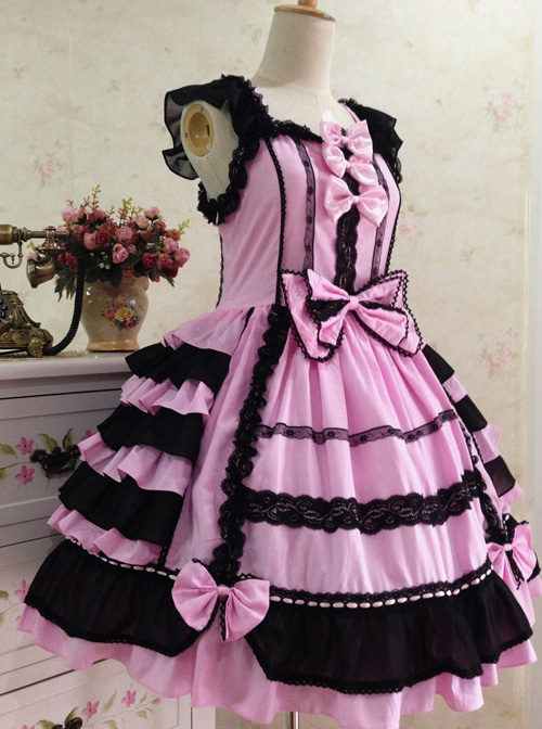 Cotton Vintage Lace Party Prom Sweet Lolita Sleeveless Dress