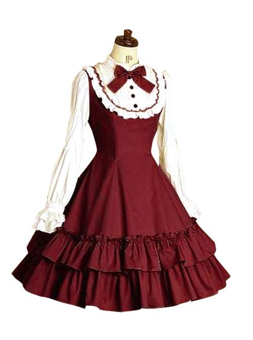 Doll Collar Flouncing Classic Lolita Long Sleeves Dress