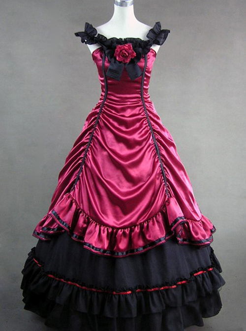 Victorian Aristocratic Gorgeous Blue Gothic Lolita Prom Dress