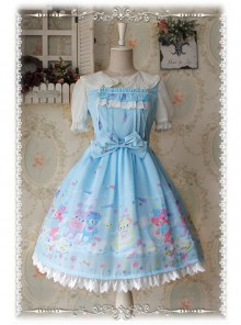 Sleeping Bear Series Chiffon Sweet Lolita Sling Dress