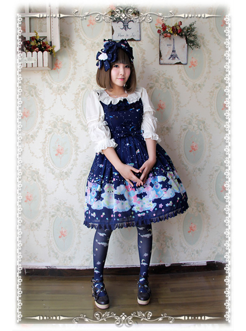 Sleeping Bear Series Chiffon Sweet Lolita Sling Dress