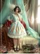 Magic Tea Party Alice Series Printing Sweet Lolita Short Sleeves Dress