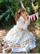 Fashion Paris Pagoda And Biscuits Printing Sweet Lolita Sling Dress