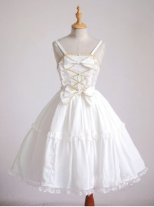 Angel's Wedding Dress White Fashion Elegance Sweet Lolita Sling Dress
