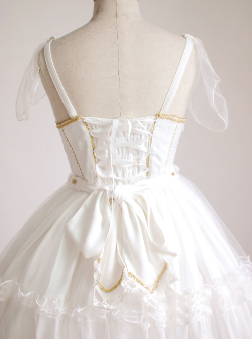 Angel's Wedding Dress White Fashion Elegance Sweet Lolita Sling Dress