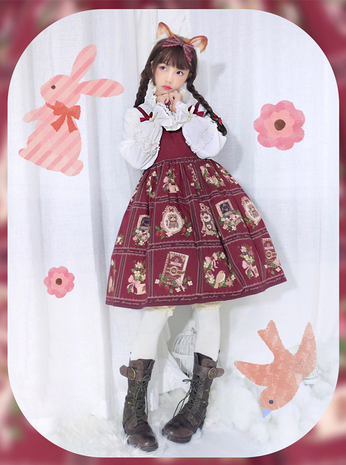 Fashion The Strawberry Garden's The Morning Music  Series Sweet Lolita Sling Dress