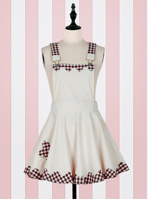 Fashion Lucky Star Lace Lattices Sweet Lolita Straps Dress