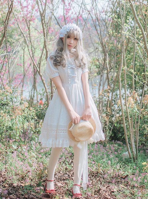 Daily Chiffon Short Sleeves Concise Classic Lolita Dress