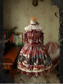 Magic Tea Party Circus Girl Series Sweet Lolita Short Sleeve And Sleeveless Dress Two Ways