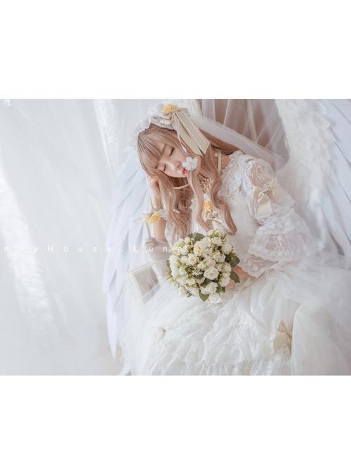 Chiffon Bowknot Lace Sweet Lolita Sling Dress With Removable Overskirt