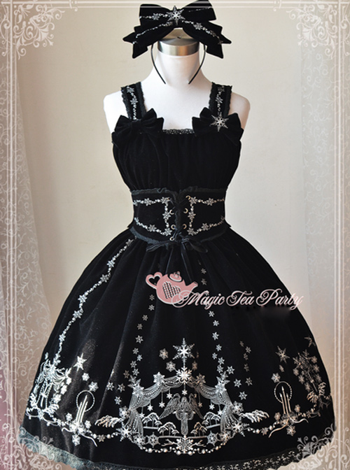 Magic Tea Party The Mass Of Winter Series Embroidery Classic Lolita Sling Dress