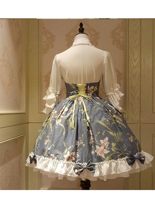Time Painting Series Chinese Style Classic Lolita Short Sleeve Dress