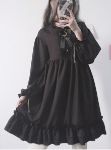 Late Summer Concerto Pure Color Classic Lolita Sling Dress