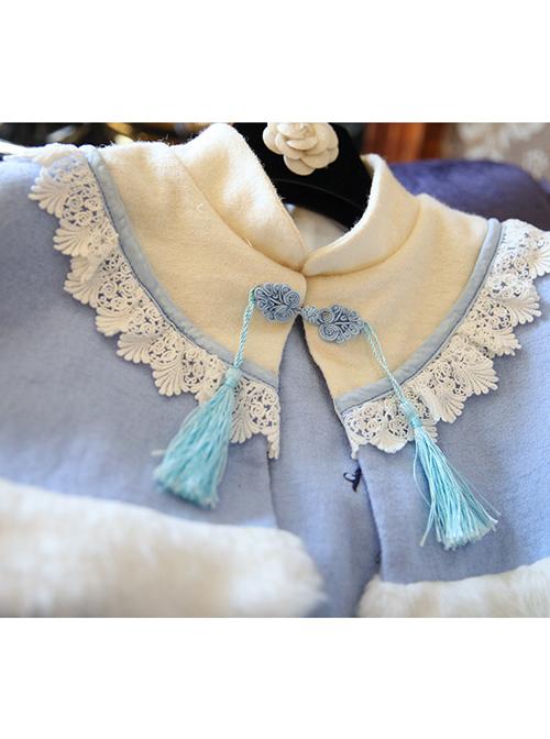 Plum Blossom Embroidery Classic Lolita Dress With Shawl