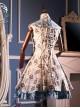 White Dragon Series Chinese Style Qi Lolita Sleeveless Dress