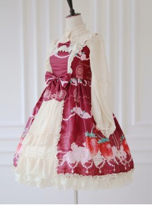 Strawberry Wedding Series Sweet Lolita Sling Dress