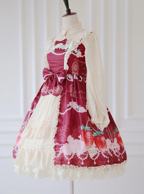 Strawberry Wedding Series Sweet Lolita Sling Dress