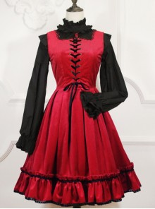 Retro Fairy Tale Style Gothic Lolita Sleeveless Dress